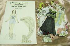 Vtg Paper Dolls Original1978 Maria Montez Ralph Hodgdon Rare Hand Painted Set!