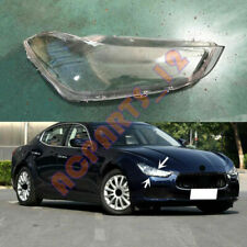 Right Side Headlight Cover Clear PC With+ Glue Replace For Maserati Ghibli 14-19