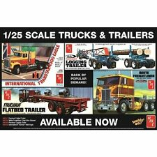 "amt promo POSTER 17""X11"" COLOR TRUCKS & TRAILERS"