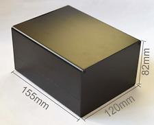 NEW DIY 1pcs Black Electrical Instruments Aluminum Box /Enclosures 155*120*82mm