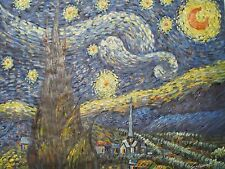 Vincent Van Gogh The Starry Night large oil painting canvas art reproduction 1