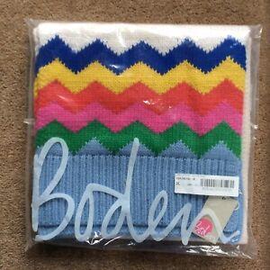 NEW Women's Boden Chunky Fair Isle Rainbow Multicoloured Scarf, One Size