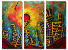 Metal Wall Art Glimmer of Hope Megan Duncanson Abstract Modern Decor Cityscape