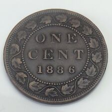 1886 Canada Large One 1 Large Cent Canadian Copper Circulated Penny Coin G596