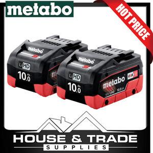 Metabo Battery Twin Pack 10Ah 18v LIHD Lithium Ion Li-Ion AU32102100