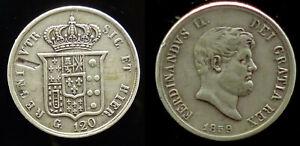 ITALIE ROYAUME DES DEUX-SICILES 120 Grana Ferdinand II 1859  27,47 GRAMMES