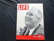 1938 JUNE 27 LIFE MAGAZINE - FRANKLIN ROOSEVELT- L 84