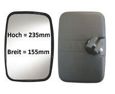 Außenspiegel LKW Weitwinkel Spiegel Zusatz Anbau Ersatz Bagger 235x155 ø16-24