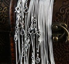 20'' in. Bulk 100pcs wholesale 1.2mm Sterling Silver plated snake Chain necklace