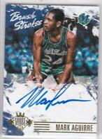2015-16 Panini Court Kings Brush Strokes #/99 Mark Aguirre Auto Card