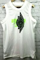 Nike Men's Large Jersey Air Jordan Wings Logo White/Green/Black BQ8479-100 NEW