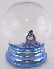 Eeyore Snow Globe Picture Frame Disney Store Water Pooh Bear Blue