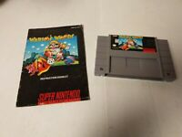 Wario's Woods (Super Nintendo Entertainment System, 1994) with manual A