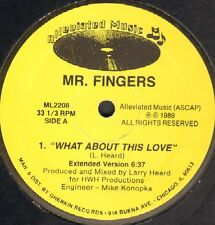 MR.FINGERS - What About This Love 1989 Alleviated ML2208 Usa