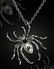 Restyle Halskette & Brosche SET Gothic Spinne Steampunk Spider Necklace Pin HR9