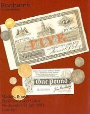 Bonhams Medals Bonds Banknotes & Coins London July 2011
