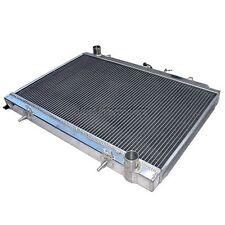 "CXRacing Aluminum Radiator For 95-98 240SX S14 S15 SR20DET MT 1.38"" Inlet"