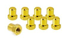 VMS RACING BILLET ALUMINUM GOLD B16 B18 VTEC VALVE COVER NUTS BOLTS HEAD 8 PCS