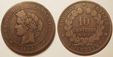 10 Centimes Cérès 1896 A Torche, Rare !!