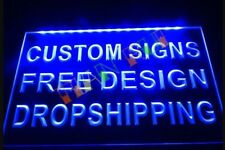 Custom Personalised Own Design LED Neon Bar Sign Home Light up Pub Shop Logo any