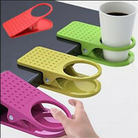 Home Office Drink Coffee Water Cup Holder Desk Mug Holder Rack Cradle Stand Clip