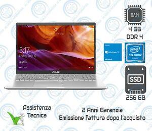 "Notebook ASUS 15.6"" X509MA-BR310T N4020 SSD256GB 4GB RAM WINDOWS 10 SILVER"