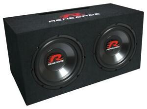 """Renegade RXV1002 2 x 25cm (10 """") Dual-Bassreflex-System 1000 Watt Subwoofer"""