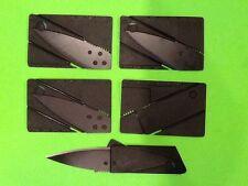 5 Credit Card Pocket Knives Razor Sharp Emergency Survival Prepper Hunting BOB