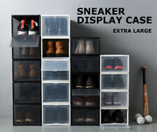 Sneaker Display Cases Shoe Box Extra Large Black Transparent Clear Plastic Boxes