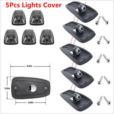 Car SUV 5Pcs Smoke Lens Cab Roof Top Marker Running Lights Cover & Lamp-socket