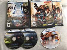 Warhammer 40,000 Dawn of War + FALLEN ANGEL SACRED I II Pc ORIGINALI BOX INFO IT