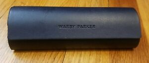 Warby Parker Hard Shell Glasses Case, White With Blue Lining NEW