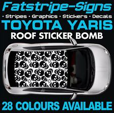 TOYOTA YARIS GRAPHICS STICKERS STRIPES DECALS TRD XP10 XP90 XP130 STICKER BOMB