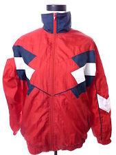Vintage Womens Windbreaker Jacket Large Nylon Retro Colorblock Red