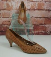 """Sabree Leather Woven Pumps """" Missy"""" Size 8"""