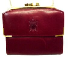 BUXTON VINTAGE Women's Wallet French Style TRIFOLD WINE BURGUNDY Leather Small