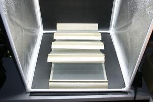 "UGG AUSTRALIA SLAT WALL Metal Plexiglass SHOE DISPLAY SHELF 12""x5"" LOGO LOT OF 4"