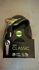 Flexi New Classic Tape Leash BLACK 26 ft LARGE, Dogs To 110 lb UPC:840317107753