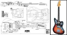 Jaguar Style Electric Guitar Full-Scale Plan