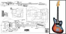 Jaguar Style Electric Guitar Full-Scale Plan