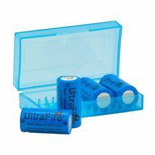 4x UltraFire 16340 CR123A Akku 1200 mAh 3,6 V Lithium-Ionen RCR123A +Batteriebox