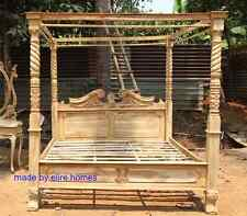 TEAK WOOD Super King size 6' Rustic finish Four poster canopy designer Bed
