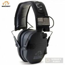 Walker's RAZOR Slim Ear Muffs PATRIOT 2X Flag Patches GWP-RSEMPAT FAST SHIP