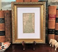 Framed Original 1887 Antique Map NEW HAMPSHIRE Keene Concord Derry Conway Loudon