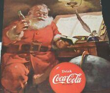 Santa Claus Coca Cola Good Boys Girls List Coke Back Cover 1951 Vintage Print Ad