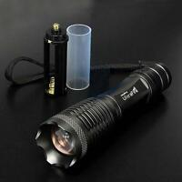 2000lm CREE XML T6 LED Zoomable Lampe torche 18650 / AAA EH