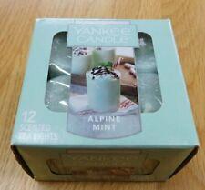 Yankee Candle Box of 12 TEALIGHT Tea Light Candles~ALPINE MINT