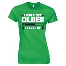 """I Don't Get Older, I Level Up"" Gaming Ladies Skinny Fit T-Shirt"