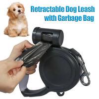 LT_ EG_ HB- Pet Dog Retractable Lockable Training Walking Lead Leash with Bag