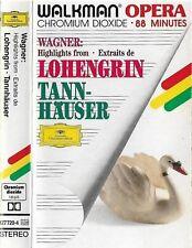 WAGNER HIGHLIGHTS LOHENGRIN TANNHAUSER CASSETTE ALBUM DG WALKMAN OPERA